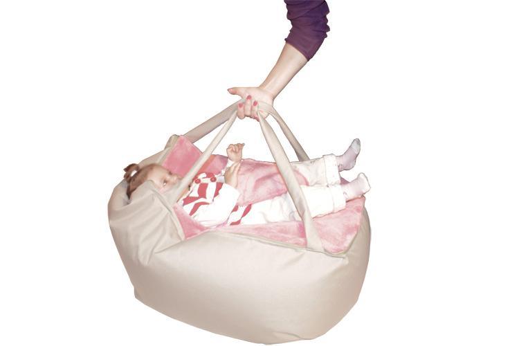 Baby Sitzsack mit Tragegurt