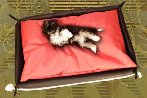 Hundebett in der Farbe Rot