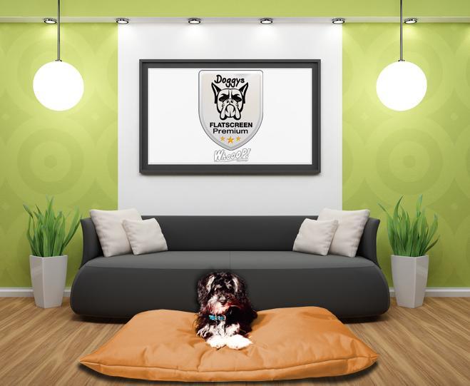 Qualitäts Hundekissen in der Farbe Braun
