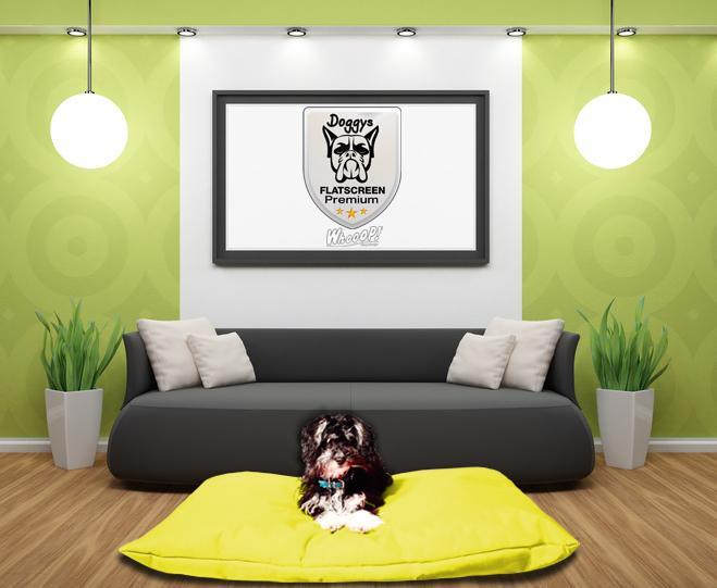 Qualitäts Hundekissen in der Farbe gelb