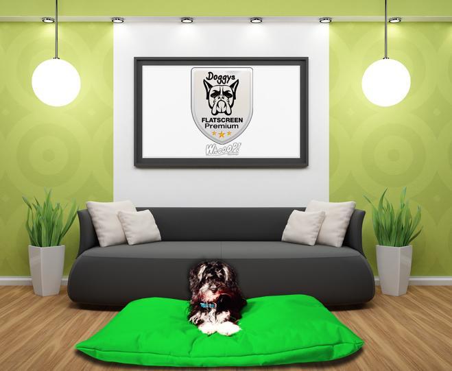 Qualitäts Hundekissen in der Farbe Grün