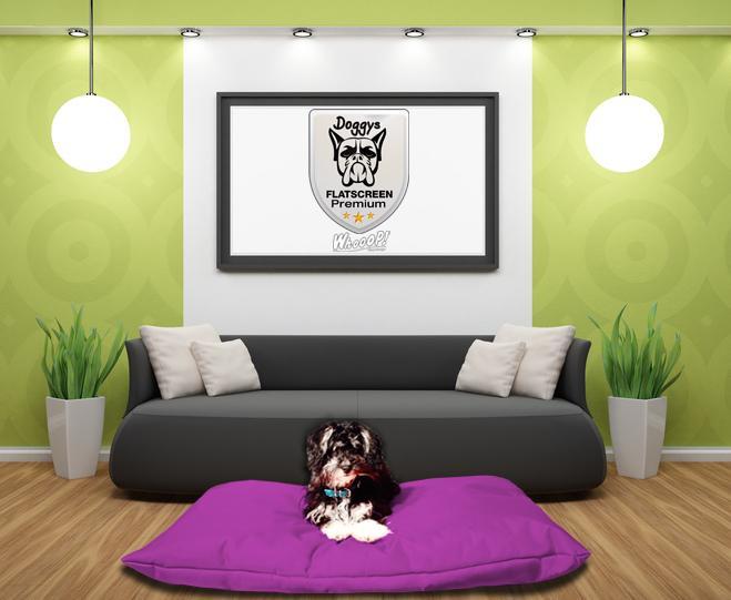 Qualitäts Hundekissen in der Farbe Lila