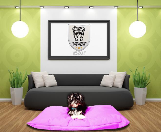 Qualitäts Hundekissen in der Farbe Pink