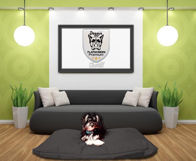 Qualitäts Hundekissen in der Farbe Schwarz