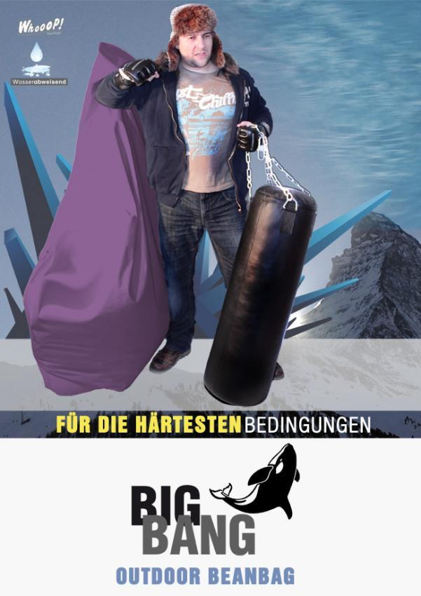 Outdoor Sitzsessel Big Bang in Lila