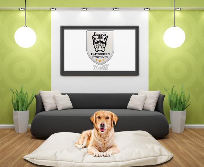 Qualitäts Hundebett Hundekissen in der Farbe Beige