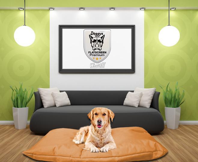 Qualitäts Hundebett Hundekissen in der Farbe Braun