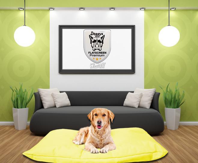 Qualitäts Hundebett Hundekissen in der Farbe Gelb