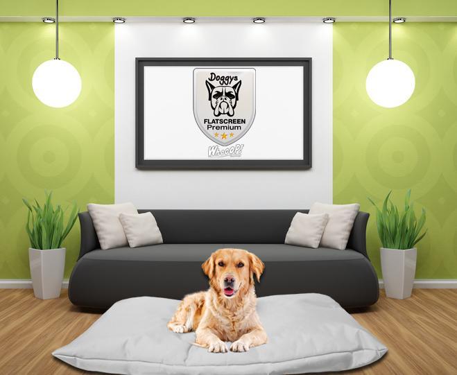 Qualitäts Hundebett Hundekissen in der Farbe Grau