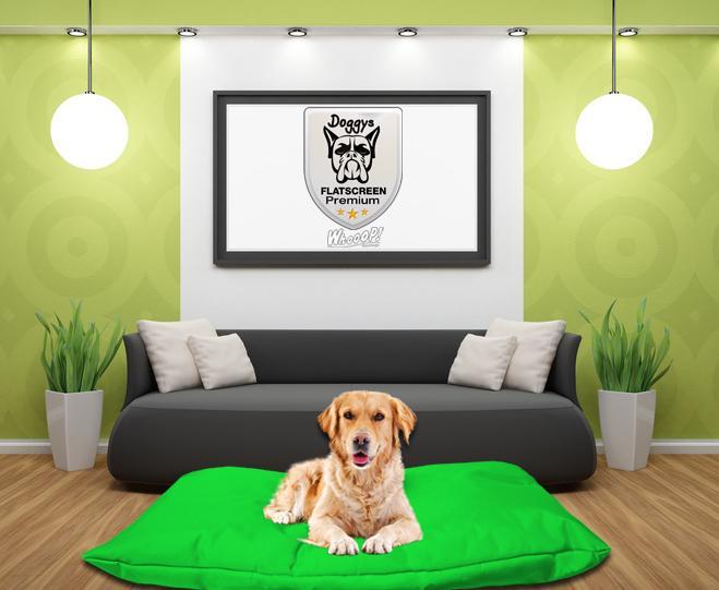 Qualitäts Hundebett Hundekissen in der Farbe Grün