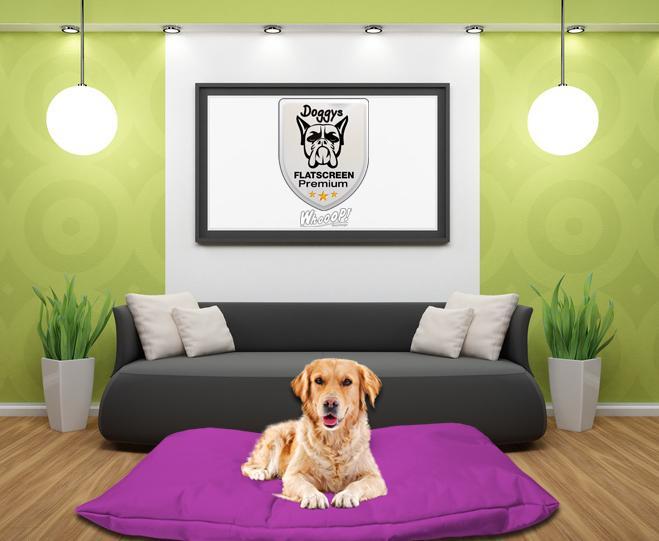 Qualitäts Hundebett Hundekissen in der Farbe Lila