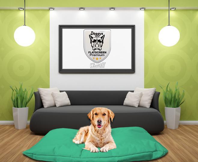 Qualitäts Hundebett Hundekissen in der Farbe Minz grün