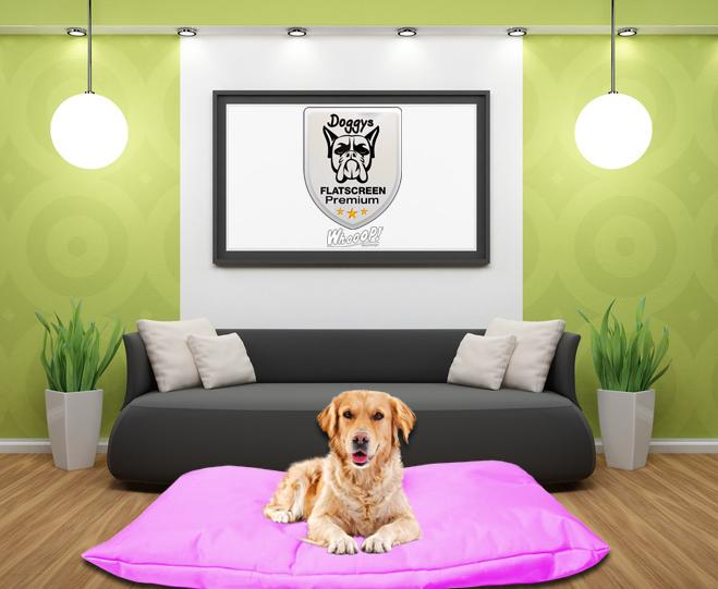 Qualitäts Hundebett Hundekissen in der Farbe Pink