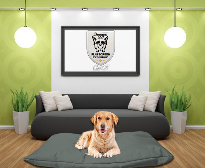 Qualitäts Hundebett Hundekissen in der Farbe Sand Grau