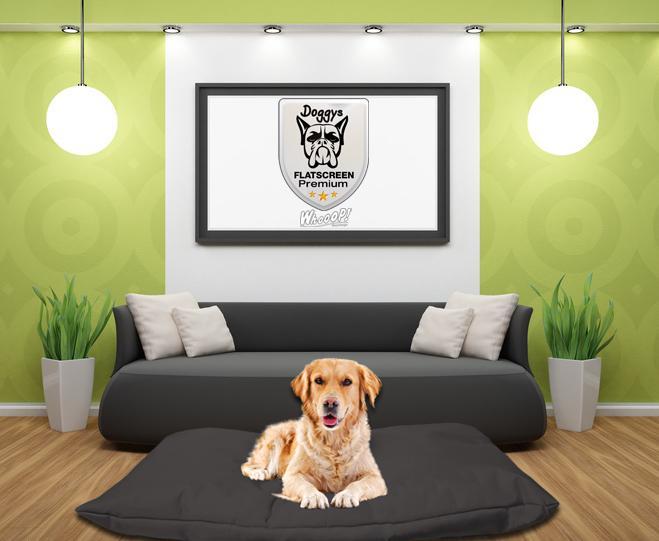 Qualitäts Hundebett Hundekissen in der Farbe Schwarz