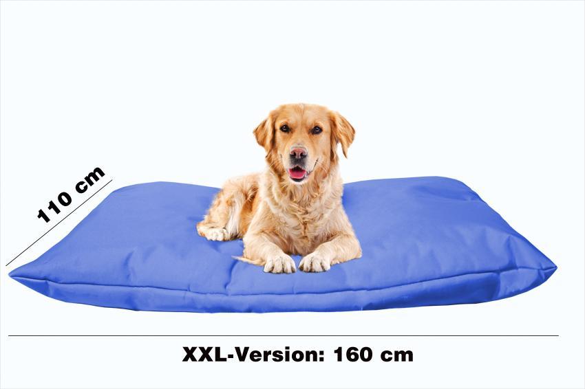 Hundebett mit Hundekissen in der Farbe Blau