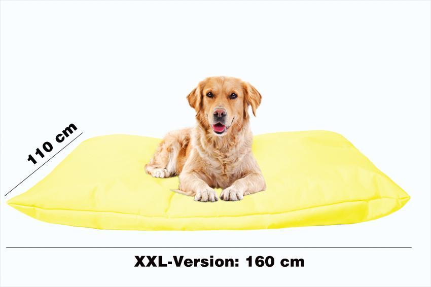 Hundebett mit Hundekissen in der Farbe Gelb