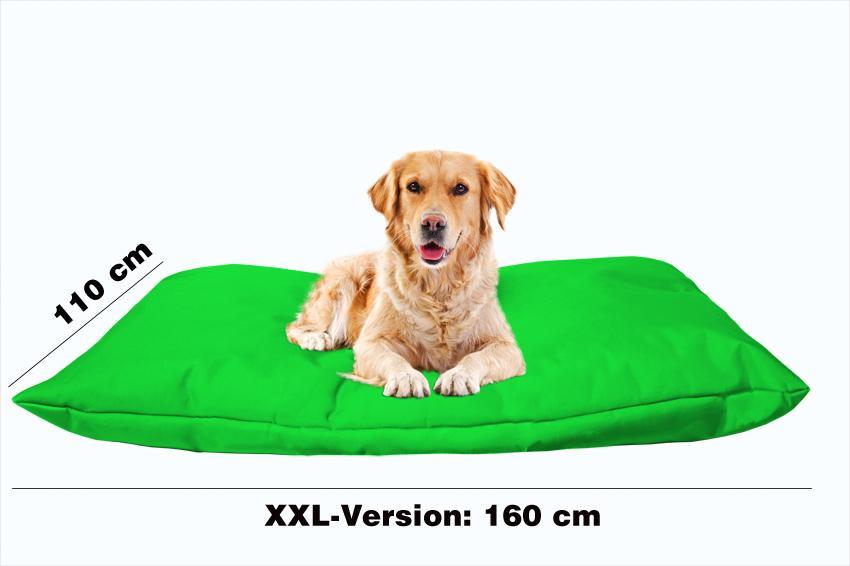 Hundekissen in der Farbe Grün XXL
