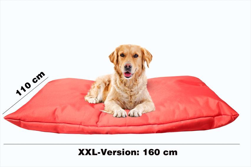 Hundebett mit Hundekissen in der Farbe Rot
