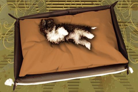 Hundebett in der Farbe Braun