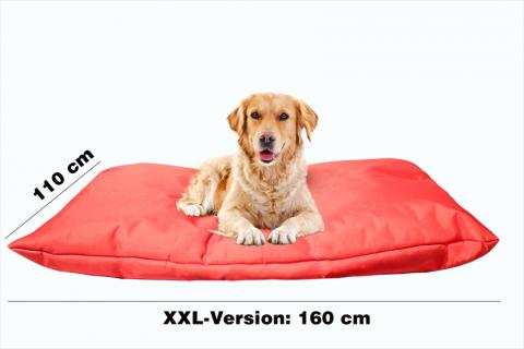 Hundekissen in der Farbe Rot XXL