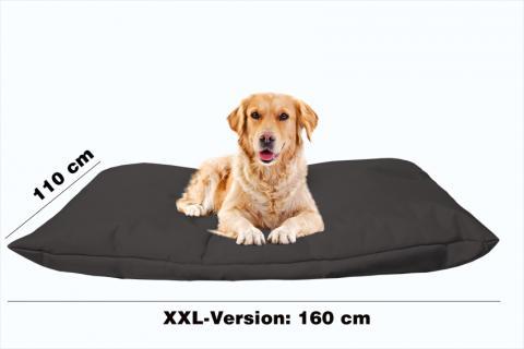 Hundekissen in der Farbe Schwarz XXL