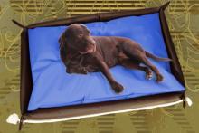 Hundebett inkl. Hundekissen in der Farbe Blau