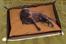 Hundebett inkl. Hundekissen in der Farbe Braun