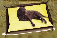 Hundebett inkl. Hundekissen in der Farbe Gelb