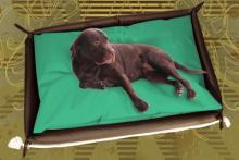 Hundebett inkl. Hundekissen in der Farbe Minz Grün