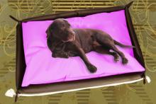 Hundebett inkl. Hundekissen in der Farbe Pink